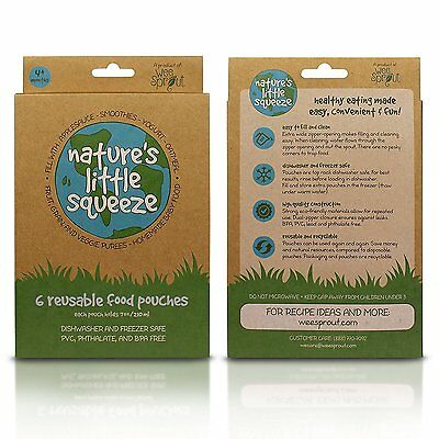 New Nature's Little Squeeze Reusable Food Pouches - SEVERAL OPTIONS AVAILABLE