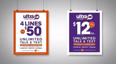 Ultra Mobile Refill Ultra Flex Refill $50 4Lines/M or 1 Line / 4Month