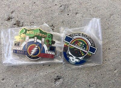 NEW Dead & Co And Company Hollywood  2 Pin set 2017 5/31 6/1 Free Stickers