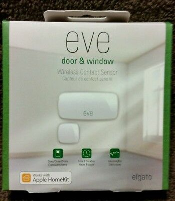 """Elgato"" Eve Door & Window Wireless Contact Sensor - White  **BRAND NEW**"