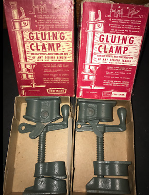 Lot of 2  ... Vintage  Craftsman Gluing Clamp No. 6674 -  .... Made in U.S.A.