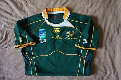 South Africa 2007 RWC Final Rugby shirt