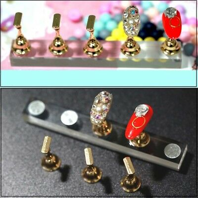 5x Retro Style Nail Art Practice Metal Stand Display Finger Holder Tool Set DIY