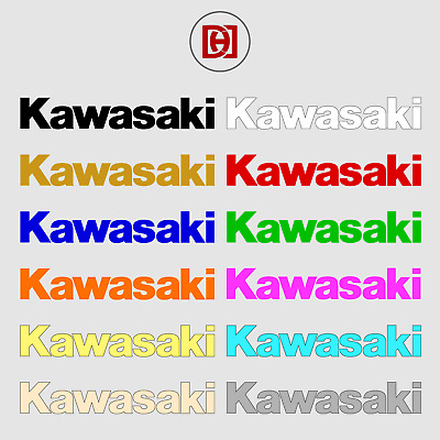 Kawasaki Sticker Decal x 2 - Available in Over 50+ Colours