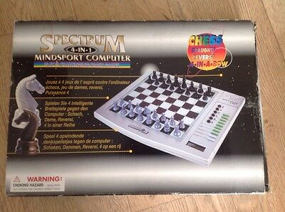 Spectrum 4-in-1 Mindsport Computer, Electronic Chess Draughts Reversi 4-in-a-row