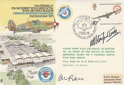 Opening of Sir Dermot Boyle Wing RAF Museum cover signed Bob Stanford Tuck