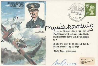 RAF Historic Aviator Lord Dowding cover signed Muriel Dowding