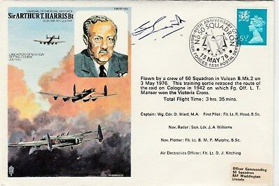 RAF Historic Aviator Arthur Harris cover signed Hugh Everitt