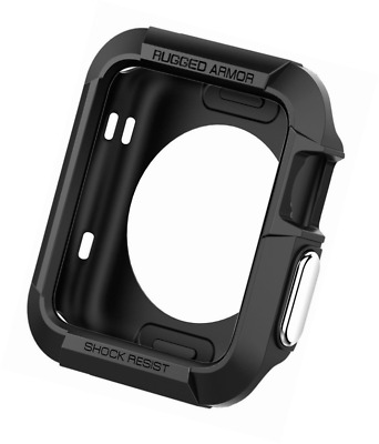 Apple Watch Case Rugged Armor Spigen Protective Bumper Cover 42mm TPU Shockproof