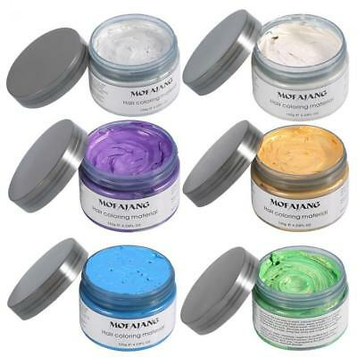 120g Mofajang Unisex Hair Color Mud Wax Dye Molding Paste Styling Colour NEW