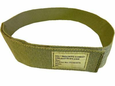 Combat Trouser Belt British Army Light Olive ~ Small Size Velcro Closure ~ New