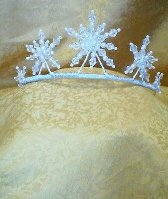 Handcrafted Starburst, Snowflake, Queen, Halloween, Fancy Dress Tiara Headress