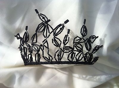 Handcrafted Black Swan  Halloween, Fancy Dress Tiara Headress