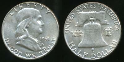 United States, 1951 Half Dollar, Franklin (Silver) - Uncirculated