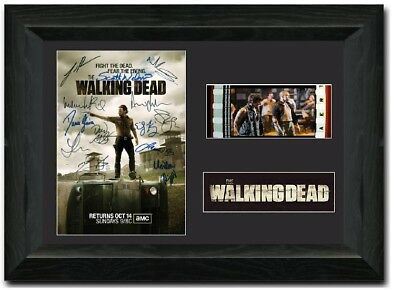The Walking Dead 35mm Film Cell display Framed comic con signed S2