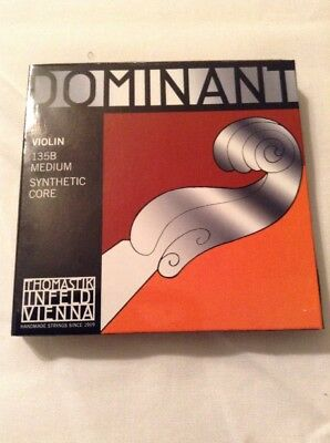 Dominant Violin String Set 4/4 Size E Ball End 135B In Original Packaging
