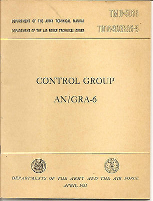 1951  Department of Army Technical Manual Control Group AN/GRA-6