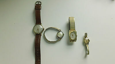 Lot Of 4 Vintage Windup Wristwatches