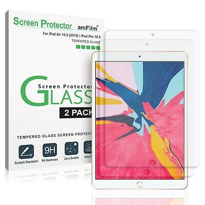 iPad Pro 10.5 Inch amFilm Case Friendly Tempered Glass Screen Protector (2 Pack)