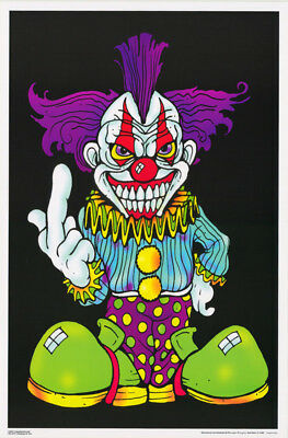Lot Of 2 Posters: Thinking Of You - Evil Clown - Blacklight  #Fl3270F   Rp59 B