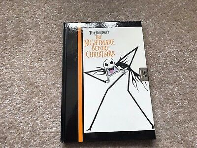 the nightmare before christmas writing book