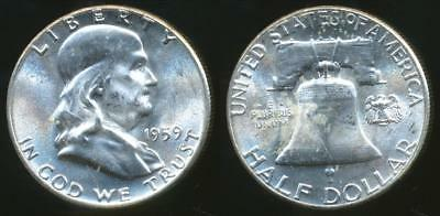 United States, 1959 Half Dollar, Franklin (Silver) - Choice Uncirculated