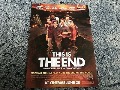 This Is The End Mini Movie Poster (2013) - James Franco, Jonah Hill, Seth Rogan