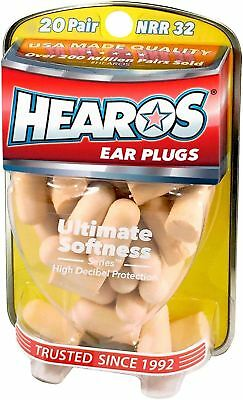 Hearos Ultimate Softness Foam Ear Defender Plugs - Various Pack Sizes - New
