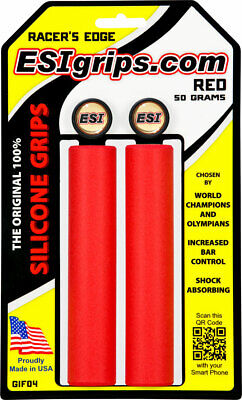 Black ESI Racer/'s Edge Silicone Thin MTB Bike Grips Racers 30mm x 130mm
