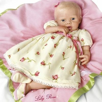 Ashton Drake - Lily Rose by doll artist Michelle Fagan - silicone soft skin