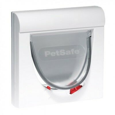PetSafe Staywell 932EF White Magnetic Cat Flap Door 932 Inc one Key 4 Way Lock