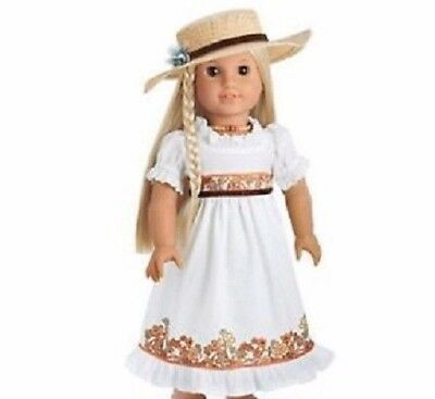 American Girl Doll Julie's Birthday Dress Outfit with Hat & Necklace NEW!!