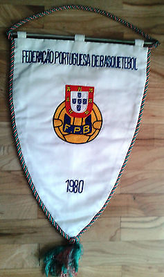 pennant Portugal Basketball Association 1980 embroidered bandierina gagliardetto