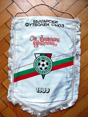 Pennant Official Bulgaria Football Association 1989 Wimpel Gagliardetto