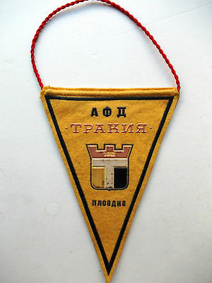Pennant Trakia Plovdiv Old Football Soccer bandierina wimpel gagliardetto