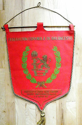 pennant Spain Basketball Association 1977 Euro Youth Women embroidered Espana