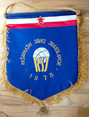 pennant Jugoslavia Basketball Association 1978 Euro Youth Women embroidered
