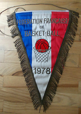 Pennant France Basketball Association 1978 embroidered bandierina gagliardetto