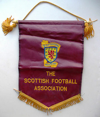 pennant Scotland Football Association embroidered wimpel gagliardetto flag