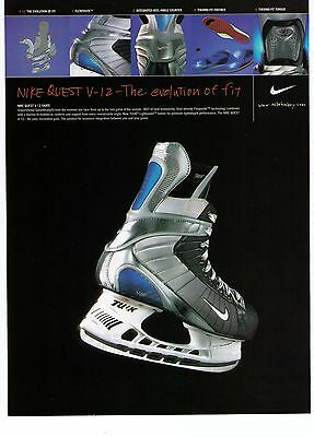 """2002 Nike Quest V-12 """"The Evolution Of Fit"""" Ice Skates Print Advertisement"""