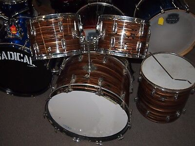 Vintage Ludwig Standard Late 60's/Early 70's Bronze Strata Drum Set