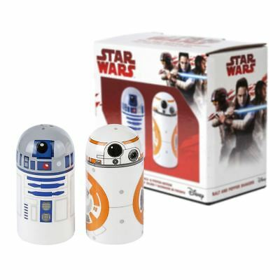 New Star Wars R2-D2 & BB-8 Salt & Pepper Shakers Ceramic Droid Disney Official