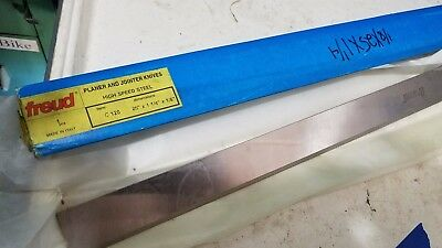 "Lot of (4) Freud 1/8 x 1-1/4 x 25"" HSS Jointer/Planer Blades (L-21-07)"