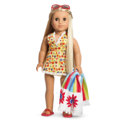 American Girl Doll Julie's Swim Suit Beach Outfit NEW!! Retired