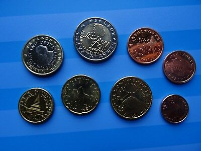 SLOVENIA coins EURO SET 2007 - 8 coin set (1 cent - 2 Euro) UNC coins from Rolls
