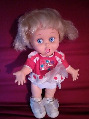 Galoob Baby Face Doll - So Surprized Suzie In Original Outfit