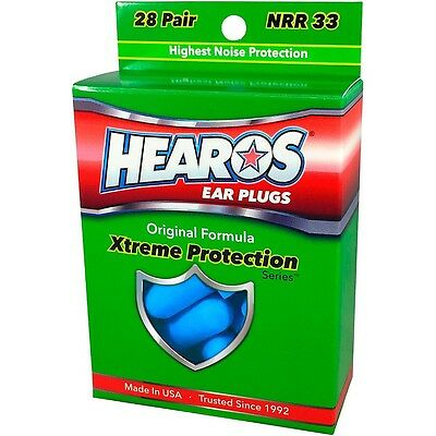 Hearos Xtreme Protection Series Ear Plugs Highest Protection NRR 33dB