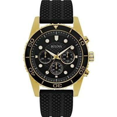 Authentic Bulova Men's 98A191 Gold Tone Stainless Steel Chronograph Watch