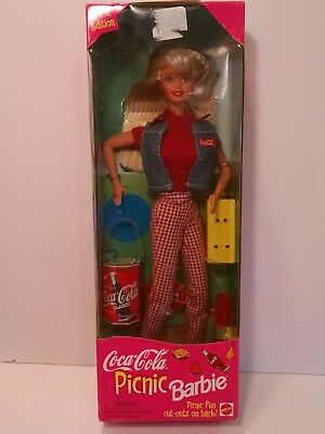 Vintage Coca Cola Picnic Barbie New Old Stock in Box 1997 Red Gingham (807)