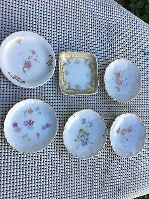 Lot Of 6 Vintage Porcelain Butter Pat Dishes - 2 From France Lot 2